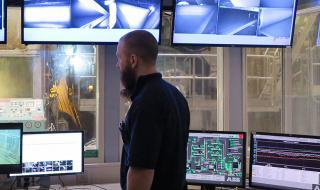 Procemex web inspection systems at paper mill's control room