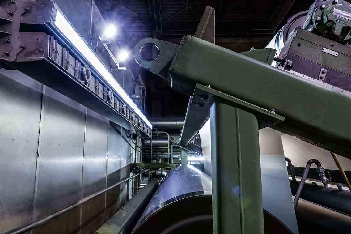 Procemex pinhole camera beam at entry size press of a paper machine