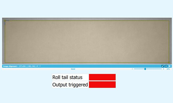 Quality inspection of roll tail positioning