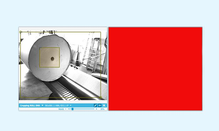 Quality inspection system of paper roll quality