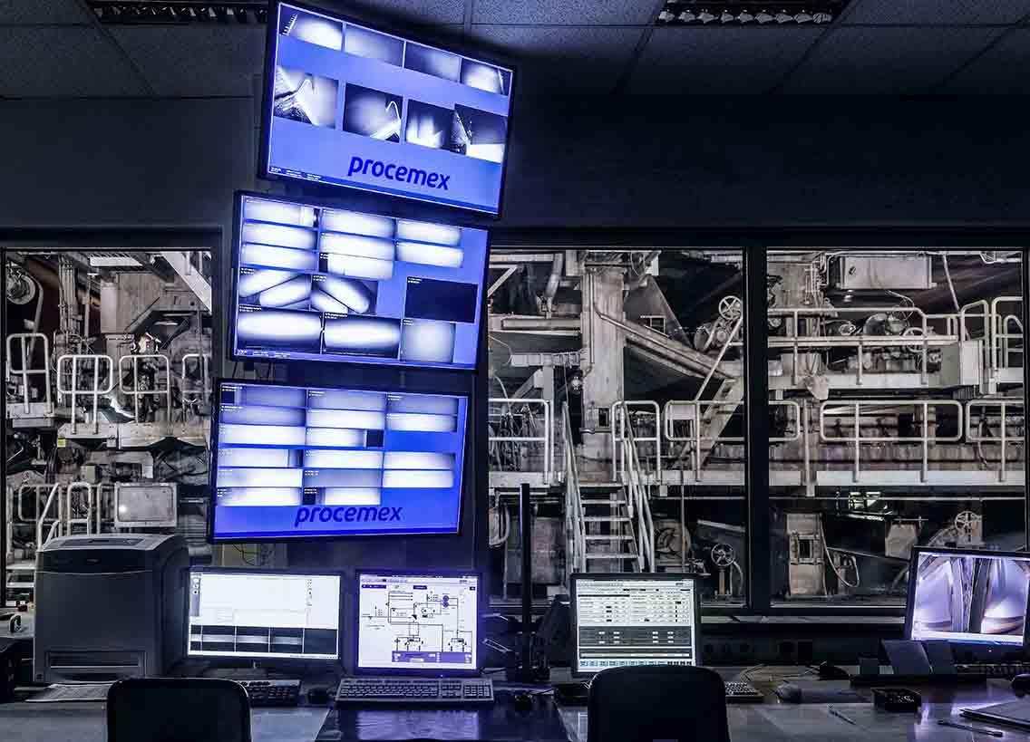 Procemex web inspection at control room of a paper mill