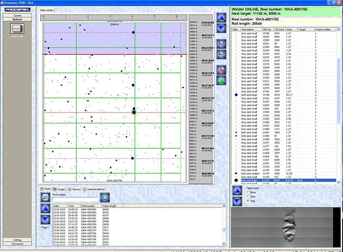 Procemex system shows web break analysis at a paper machine