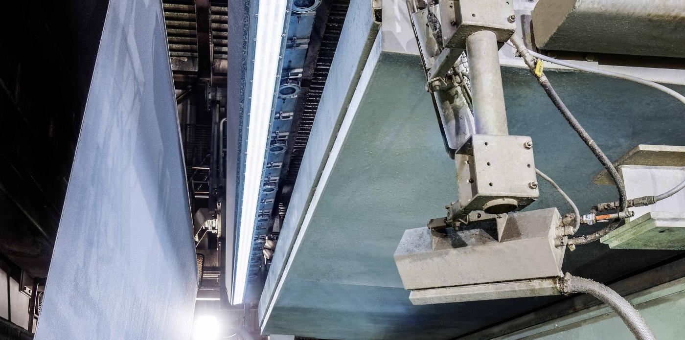 Procemex pinhole camera beam at a paper machine